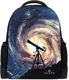 Mydaily Galaxy Nebula Telescope Backpack 14 Inch Laptop Daypack Bookbag for Travel College School