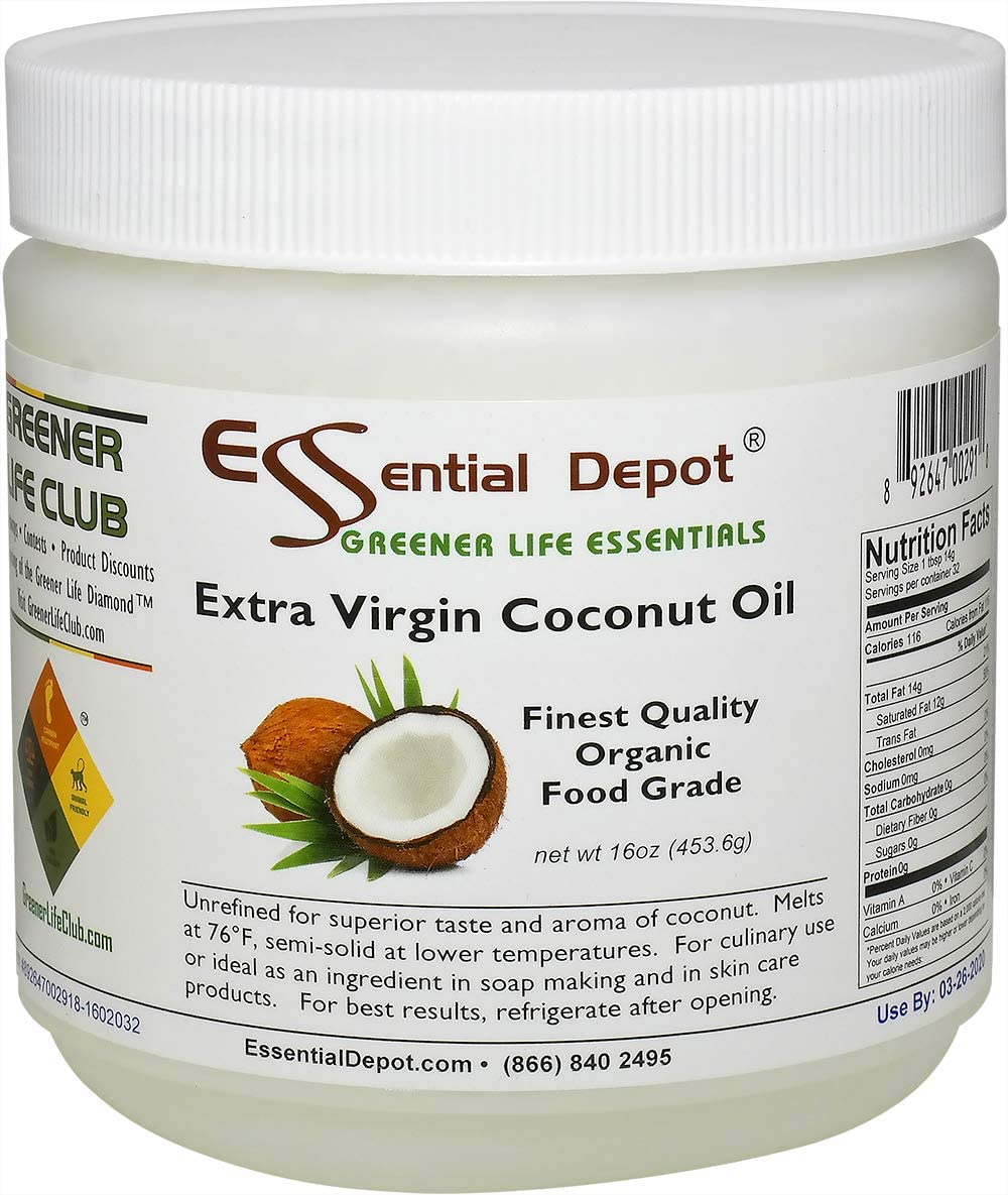 Coconut Oil - Extra Virgin Organic lb Year-end gift 1 Food Grade 16 oz At the price of surprise