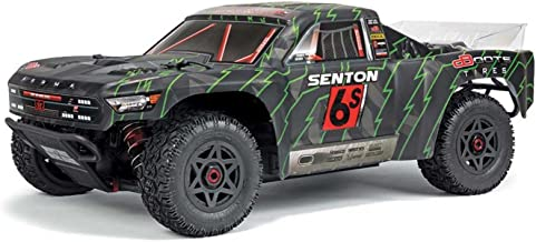 ARRMA SENTON 6S BLX Brushless 4WD Super Duty RC Short Course Truck RTR with 2.4GHz Radio   1:10 Scale (Black/Green)