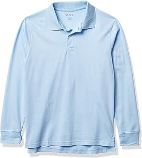 The Children's Place boys Uniform Long Sleeve Soft Jersey Polo Polo Shirt
