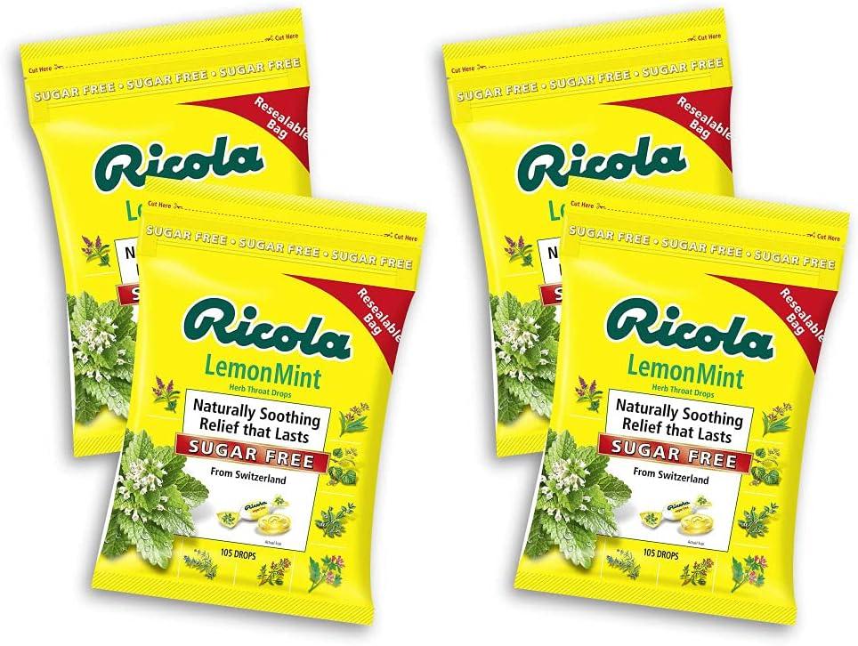 Ricola Sugar Free Lemon sale Mint Drops 2 420 Pack Max 56% OFF of Dro Count 210