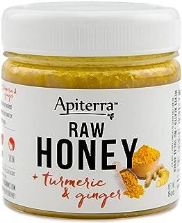 Turmeric Honey - Raw Honey with Turmeric & Ginger, Ginger Honey Set - 32 Ounce, 4 Count