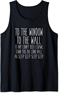 To My Comfy Bed I Crawl Funny Graphic Sleep Tank Top