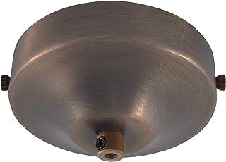 Rosetón de techo ElekTek de 100 mm de diámetro cóncavo con pletina de montaje y conexión de cable. Ideal para bombillas vintage de filamento colgadas. Acabados con recubrimientos metálicos y en polvo