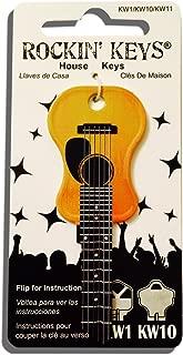 Acoustic Guitar Shaped Rockin' Key Kwikset KW1 KW10