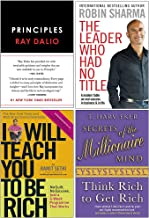Principles Life and Work [Hardcover], The Leader Who Had No Title, I Will Teach You To Be Rich, Secrets of the Millionaire...