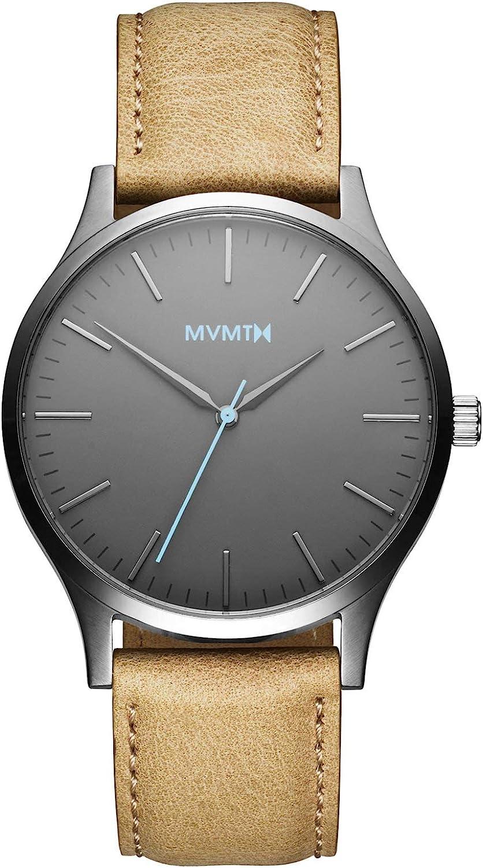 MVMT Reloj Analógico para Hombre de Cuarzo con Correa en Cuero D-MT01-GML