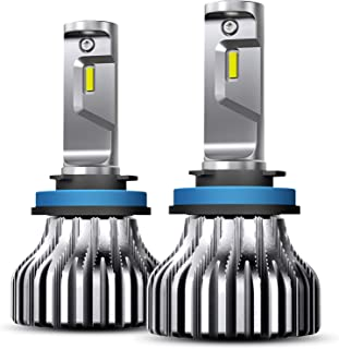 AUXITO H11 (H8,H9) LED Headlight Bulbs Conversion Kit Fan-less 9000 Lumens Bright Per Pair 6000K Xenon White All-in-One Lamps for Headlight Fog Light