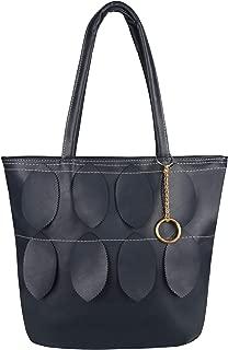 New Women Large Designer Style PU Leather Tote Shopper Bag Hand Bag Leaf Tassel