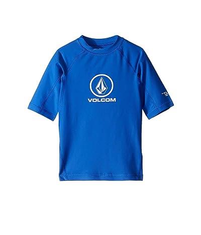 Volcom Kids Lido Solid Short Sleeve Rashguard (Little Kids/Big Kids) (Royal) Boy