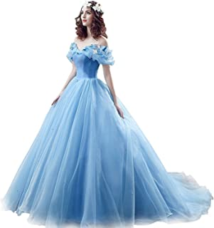 Women's Princess Costume Off Shoulder Prom Gown Quinceanera Dress