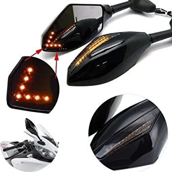 Taben motorcycle LED indicatori di direzione indicatore specchietto retrovisore integrato per bici da corsa sport bici