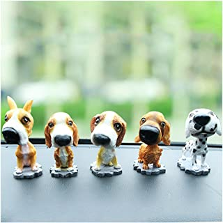 Comidox Bobble Head Dogs Bobbing Heads Car Dash Ornaments Puppy for Car Vehicle Decoration (Hound) 1pcs