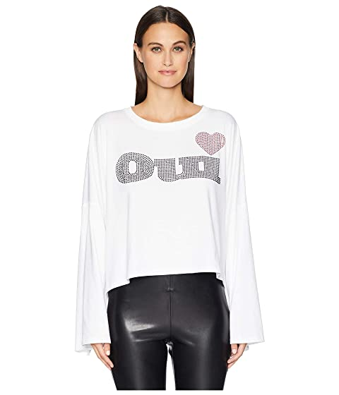 "The Kooples Long Sleeve T-Shirt with ""OUI"" Print at the Front"
