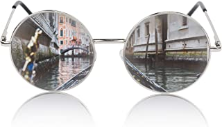 SunnyPro Oversized Round Sunglasses Retro Circle Hippie Glasses UV400 Protection