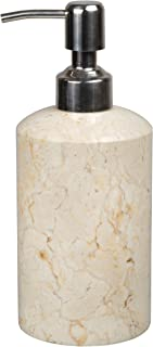 Creative Home Natural Champagne Marble Stone SPA Collection Liquid Soap, Lotion Dispenser