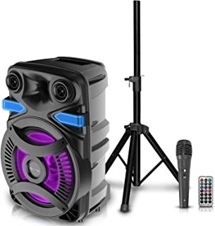 $199 » Sponsored Ad - Technical Pro 3000 Watts Rechargeable 15 Inch Bluetooth LED Speaker Package w/Tripod & Microphone, LED Woof...