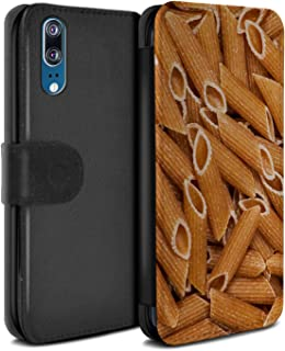 eSwish PU Leather Wallet Flip Case/Cover for Huawei P20 / Penne Pasta Design/Food Collection