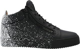 Luxury Fashion | Giuseppe Zanotti Design Men RU00025002 Black Leather Hi Top Sneakers | Autumn-winter 20