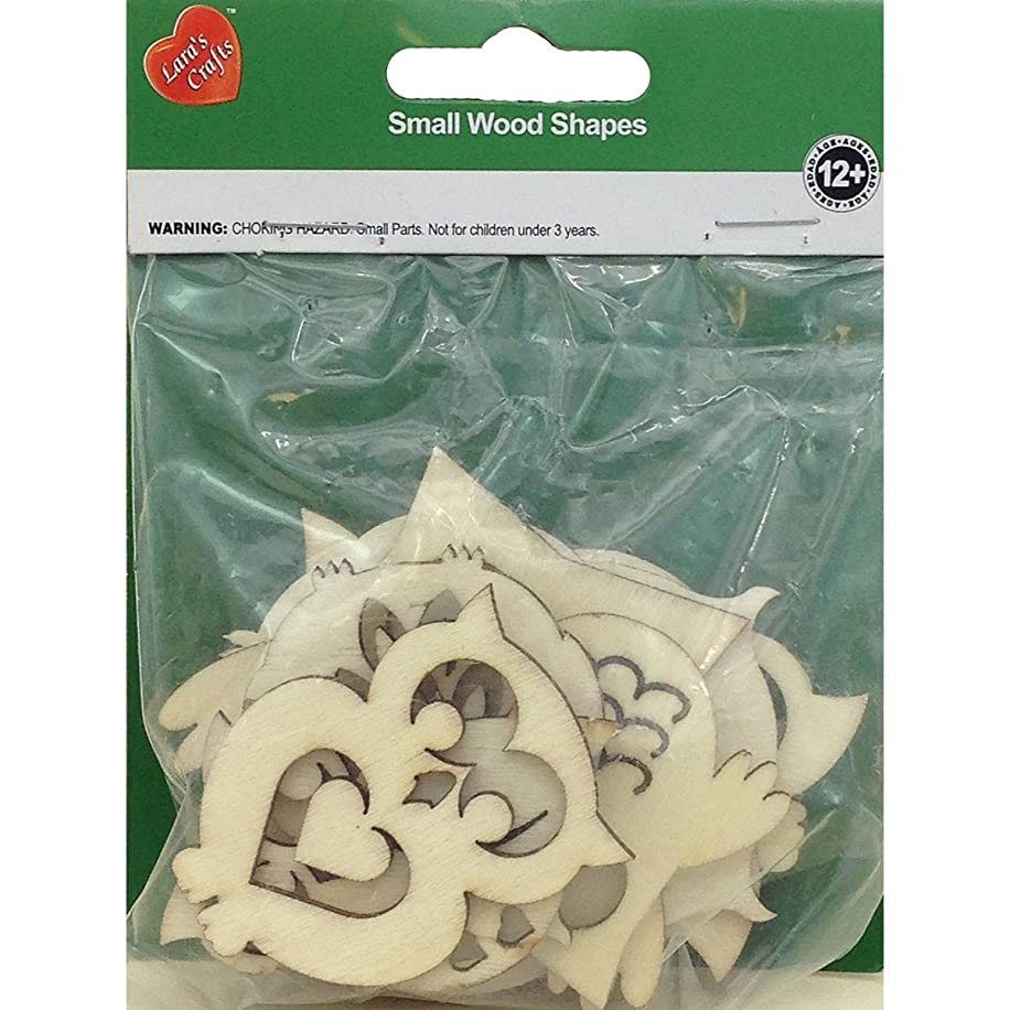New Image Group Assorted Wood Shapes-Owl Pairs (8/pkg)