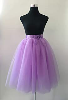 Cuts & Fits 7 Layers Tulle Skirts - Mid Calf Length