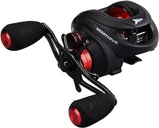 KastKing Spartacus Baitcasting Fishing Reel Ultra Smooth 17.5 LB Carbon Fiber Drag, 6.3:1 Gear Ratio,11 + 1 Shielded Ball Bearings, Rubber Cork Handle Knobs