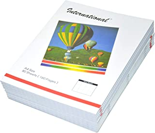 FIS International Exercise Books 10 mm Square, 160 Pages, Pack of 10 Pieces, A4 Size - FSEB10A4INT80