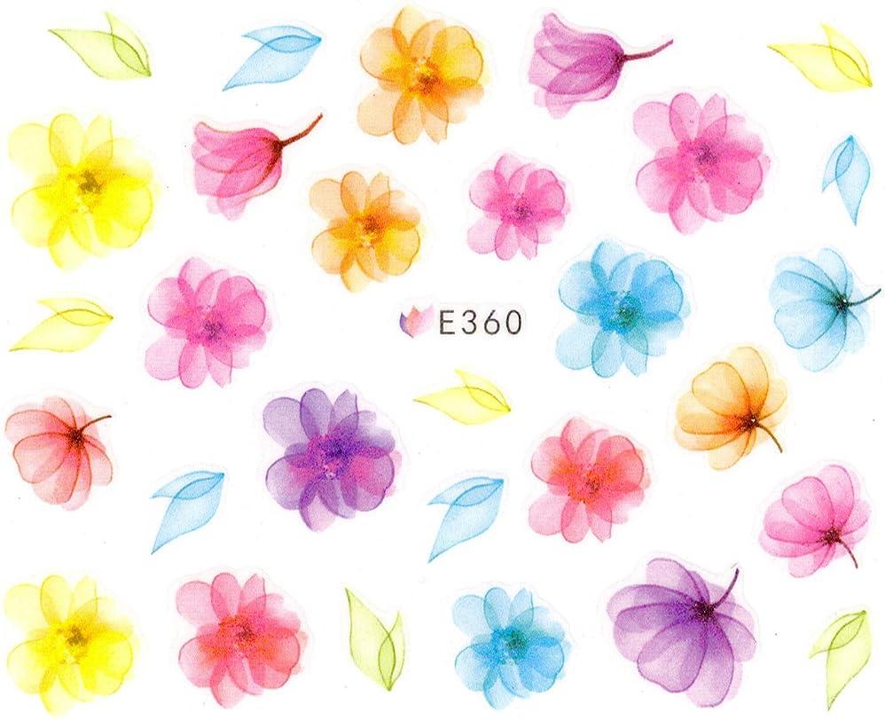あなたのもの忌み嫌う異常なネイルシール 水彩風 花 フラワー 選べる商品(04-T33)