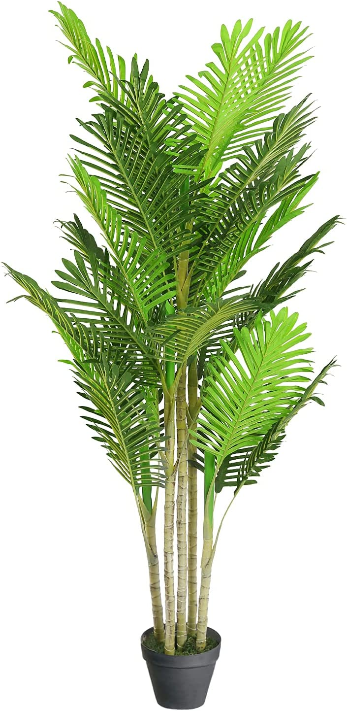4.3 Feet Max 75% OFF Artificial Palm Plant Tree with 29 Trunks Faux and Regular discount