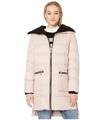 BB Dakota Cold Snap Down Filled Knit Collar Puffer Coat (Parchment) Women