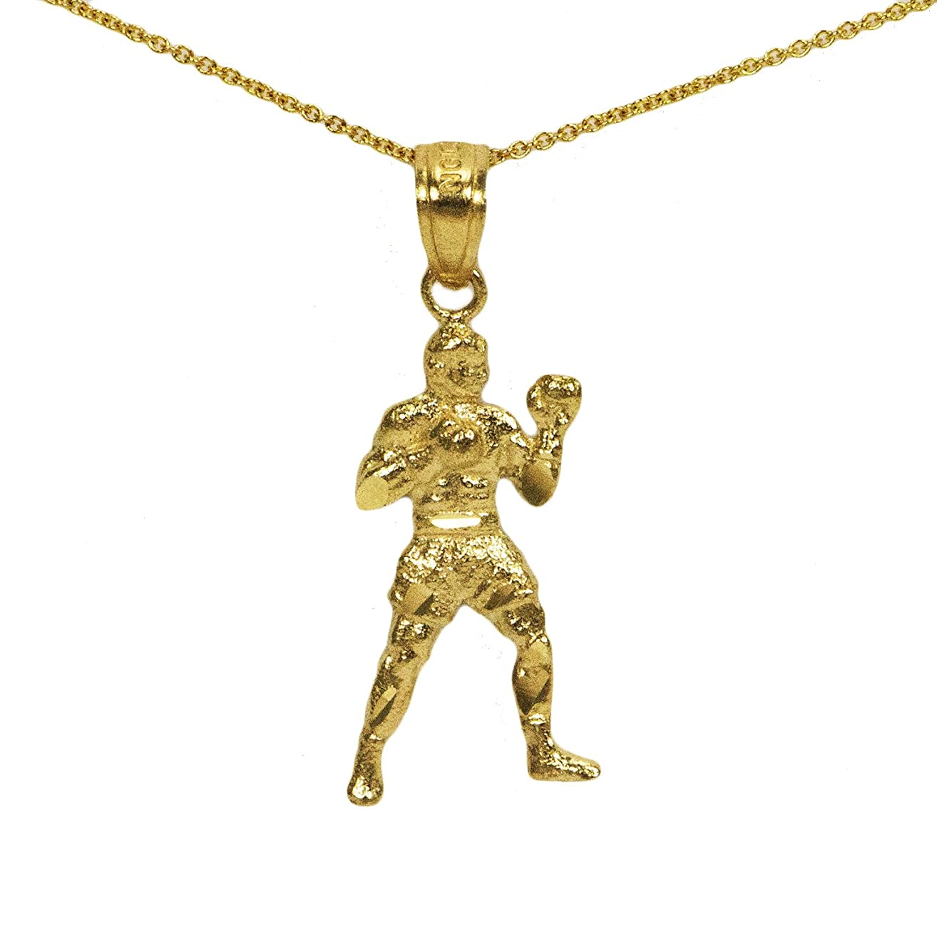 10k Yellow Gold Boxing Pendant