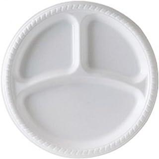 (ユー・ディー・エル) UDL 仕切りつき プラスチック皿 食器 プレート 50枚セット