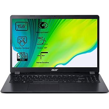 "Acer Aspire 3 - Portátil 15.6"" FullHD (Intel Core i5-1035G1, 12GB RAM,512GB SSD, UMA Graphics, Sin Sistema Operativo), Color Negro - Teclado QWERTY Español"