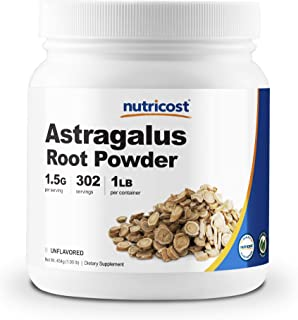 Nutricost Astragalus Root Powder 1LB - Gluten Free, Non-GMO, Vegan
