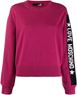Love Moschino Luxury Fashion Womens WSG6210X0377O49 Purple Sweater |