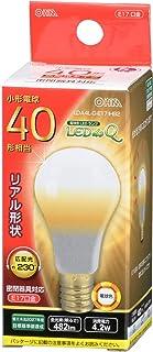 オーム電機 LED電球 小形(40形相当/482lm/電球色/E17/広配光230°/密閉器具対応/断熱材施工器具対応) LDA4L-G-E17 IH92