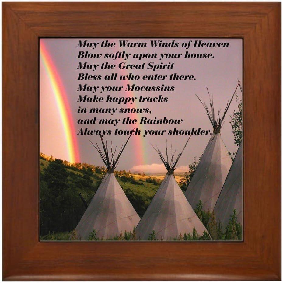cheap CafePress Cherokee Be super welcome Blessing Prayer Framed Tile Decorative