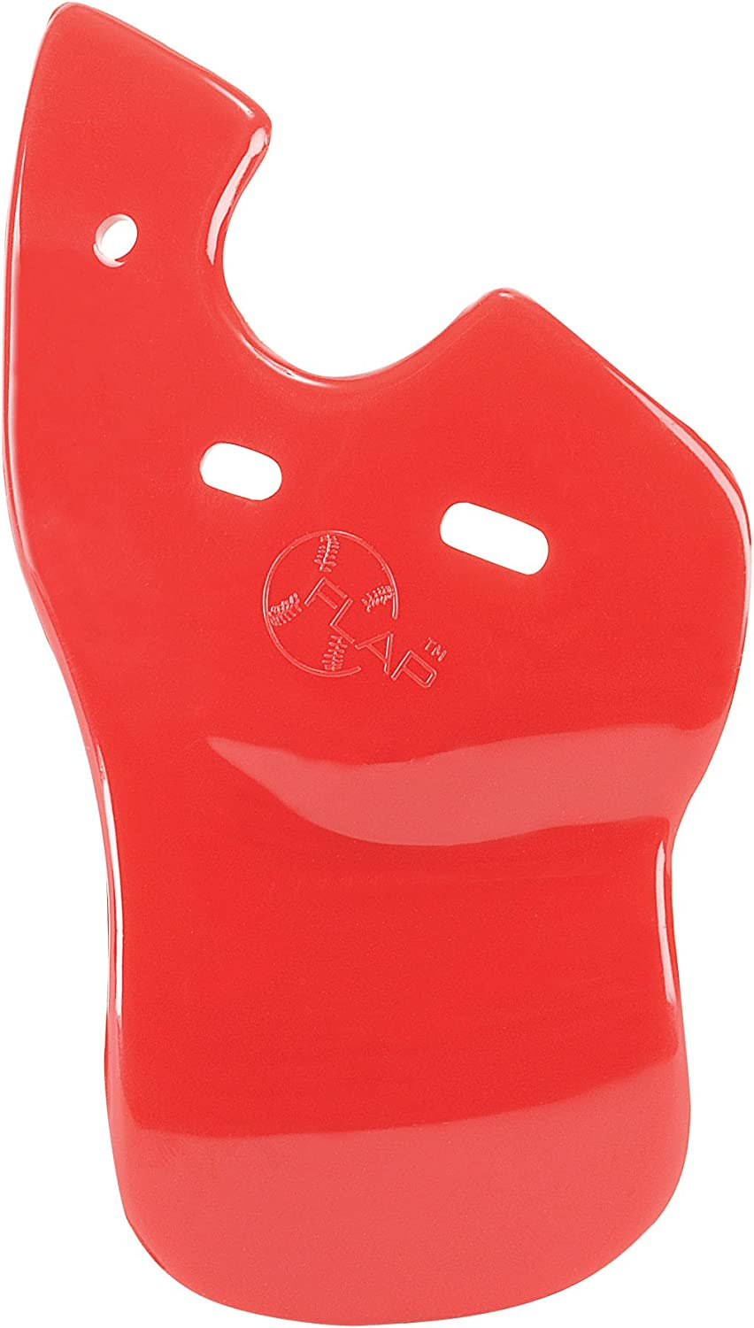 Baseball C-Flap Batter's Helmet Face Predection Guard Attachment (5 colors for Left & Right Handed Hitters) (Red, Left Handed Hitter)