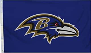 Fremont Die NFL Flag with Grommets, Baltimore Ravens, Logo