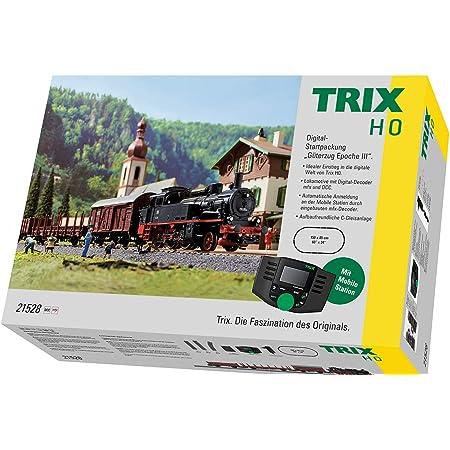 Märklin Trix 21528 Digital Startpackung Güterzug Epoche Iii Spur H0 Modelleisenbahn Viele Soundfunktionen Mit Mobile Station Und C Gleis Schienen Spielzeug