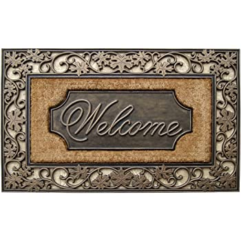 18 by 30 Achim Home Furnishings COM1830VN6 Vines Coco Door Mat