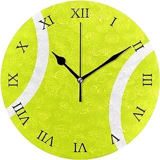 MIKA テニス・ボール 時計 クロック 壁掛け 掛け時計 かけ時計 壁掛け時計 インテリア 家具 おしゃれ オシャレ お洒落 デザイン 連続秒針