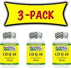 Nat-rul Health Co Q10 400mg 45 Veggi-Capsules - 3 Pack