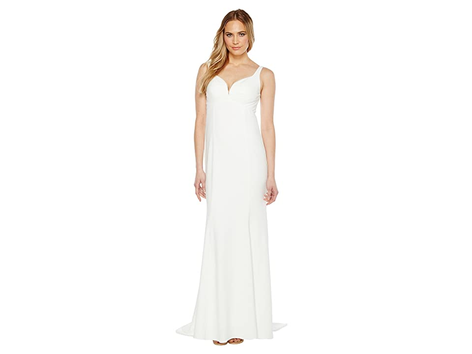 Adrianna Papell Knit Crepe Gown (Ivory) Women