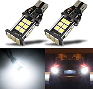 iBrightstar Newest Extremely Bright 3030 Chipsets T15 912 W16W 921 LED Bulbs Error Free For Backup Reverse Lights,Truck Cargo Lights, High Mount/3rd Brake Lights, Xenon White