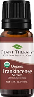 Plant Therapy Frankincense Serrata Organic Essential Oil 100% Pure, USDA Certified Organic, Undiluted, Natural Aromatherapy, Therapeutic Grade 10 mL (⅓ oz)