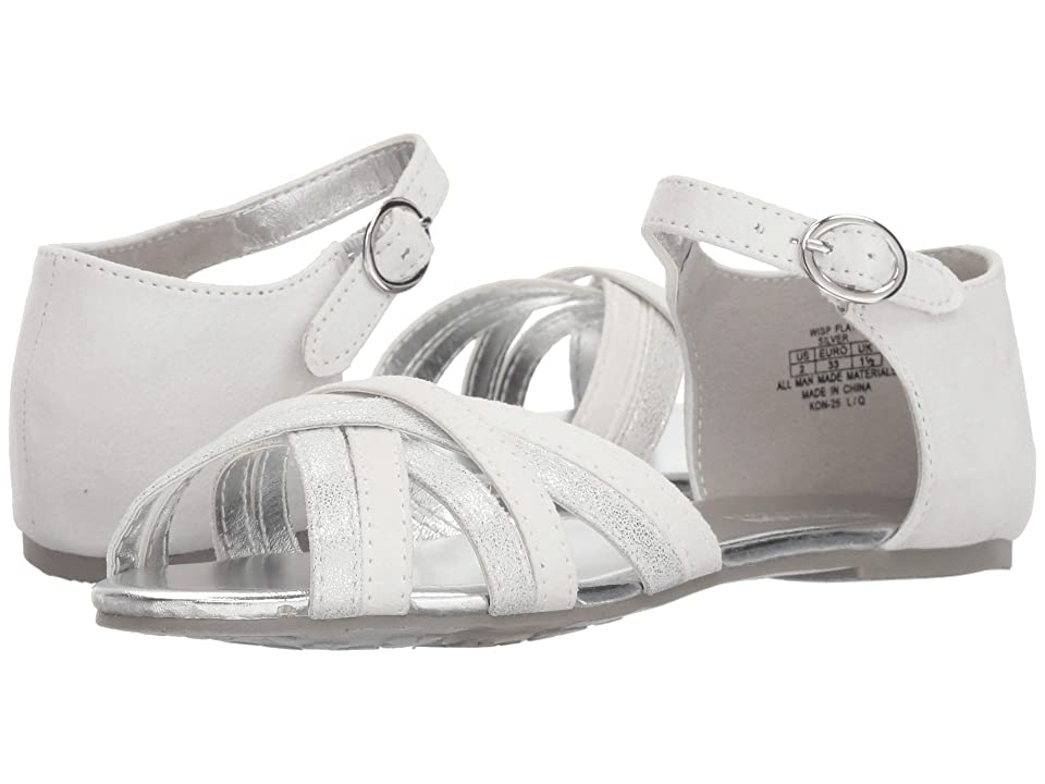 Kenneth Cole Reaction Kids Wisp Flat (Little Kid/Big Kid) (Silver) Girl