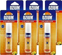 Ozium Air Sanitizer 0.8 oz Spray, Citrus Scent (6)