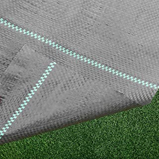 FLARMOR Landscape Fabric Heavy Duty - Woven Weed Barrier Landscape Fabric - Weed Block - Garden Fabric Roll - Commercial Weed Control Fabric 3 X 300 Foot