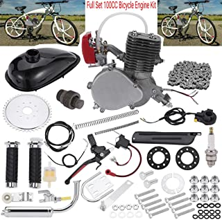 "Sihand Full Set 100CC Bicycle Engine Kit, Motorized Bike 2-Stroke, Petrol Gas Engine Kit, Super Fuel-efficient for 24"",26"" or 28"" Bicycle"
